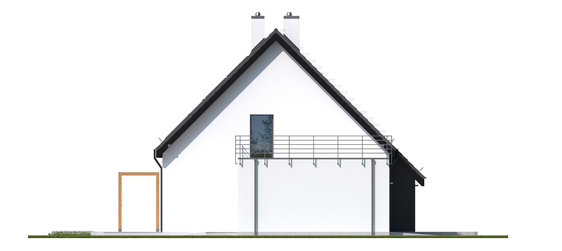 Projekt domu RYTM Domy Czystej Energii elewacja boczna