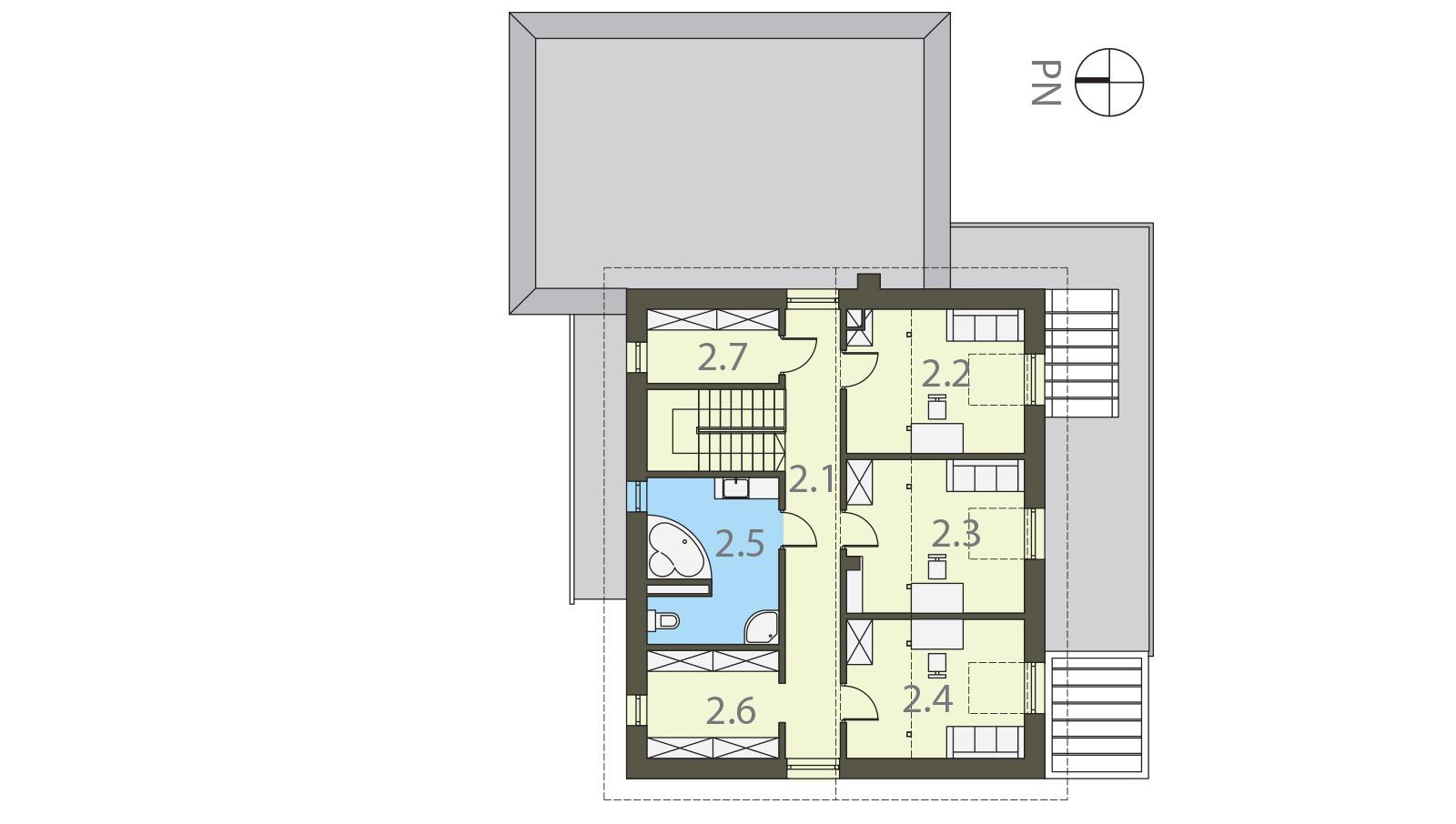 Projekt domu SIELSKI Domy Czystej Energii rzut piętra