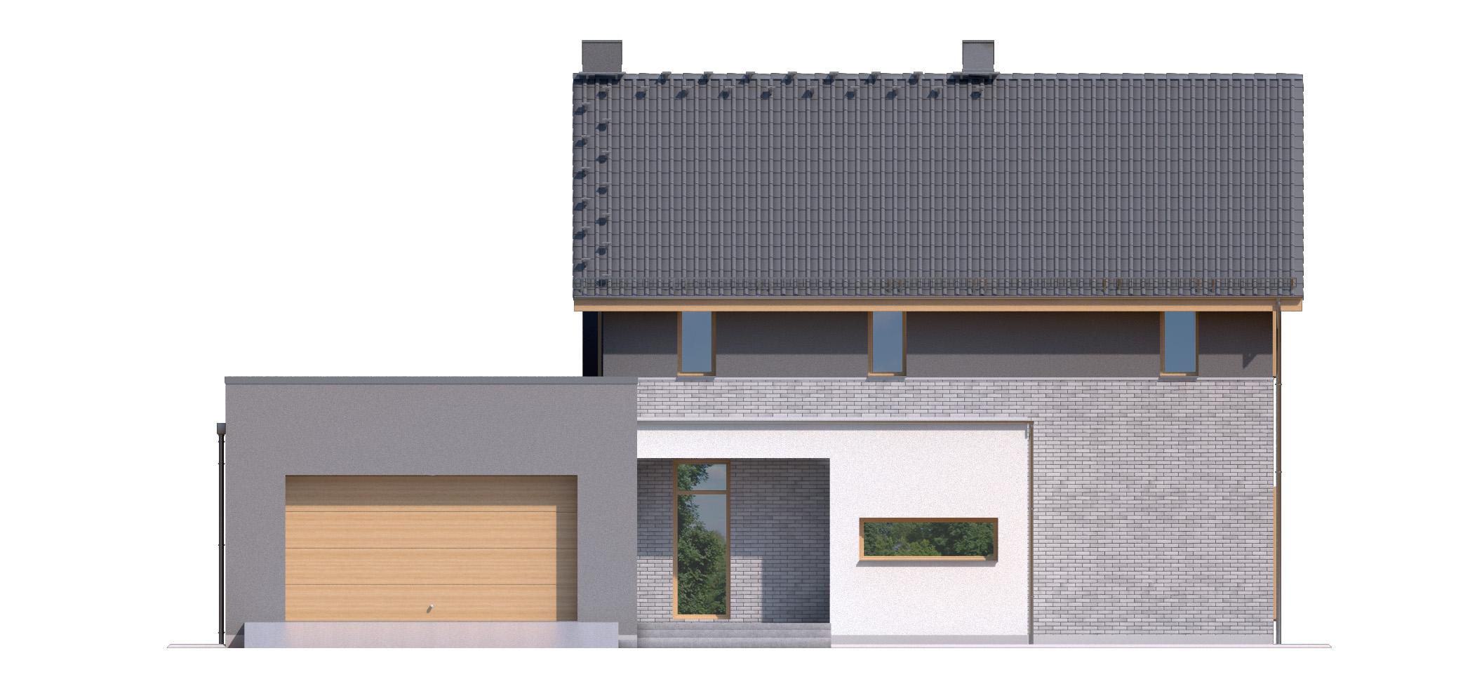 Projekt domu SIELSKI Domy Czystej Energii elewacja frontowa