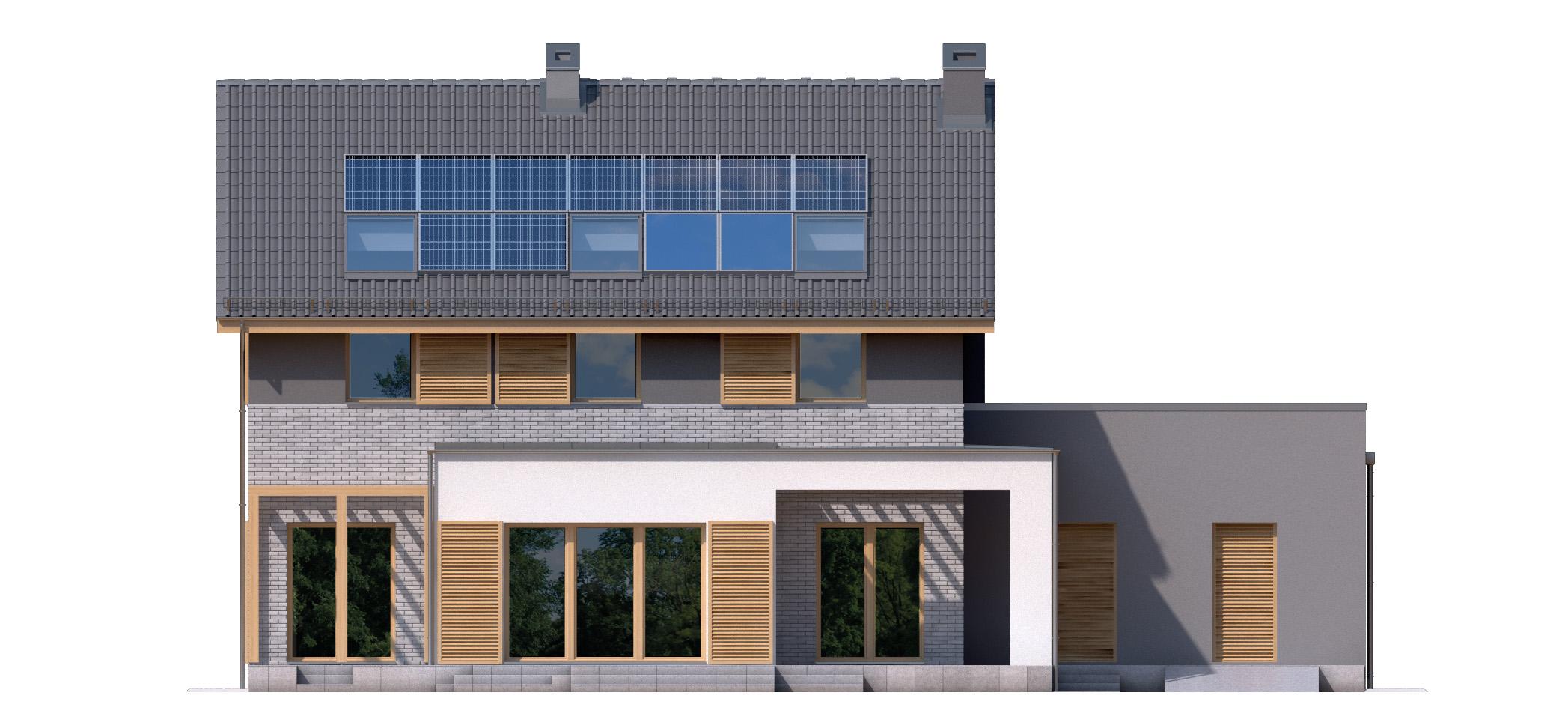 Projekt domu SIELSKI Domy Czystej Energii elewacja tylna