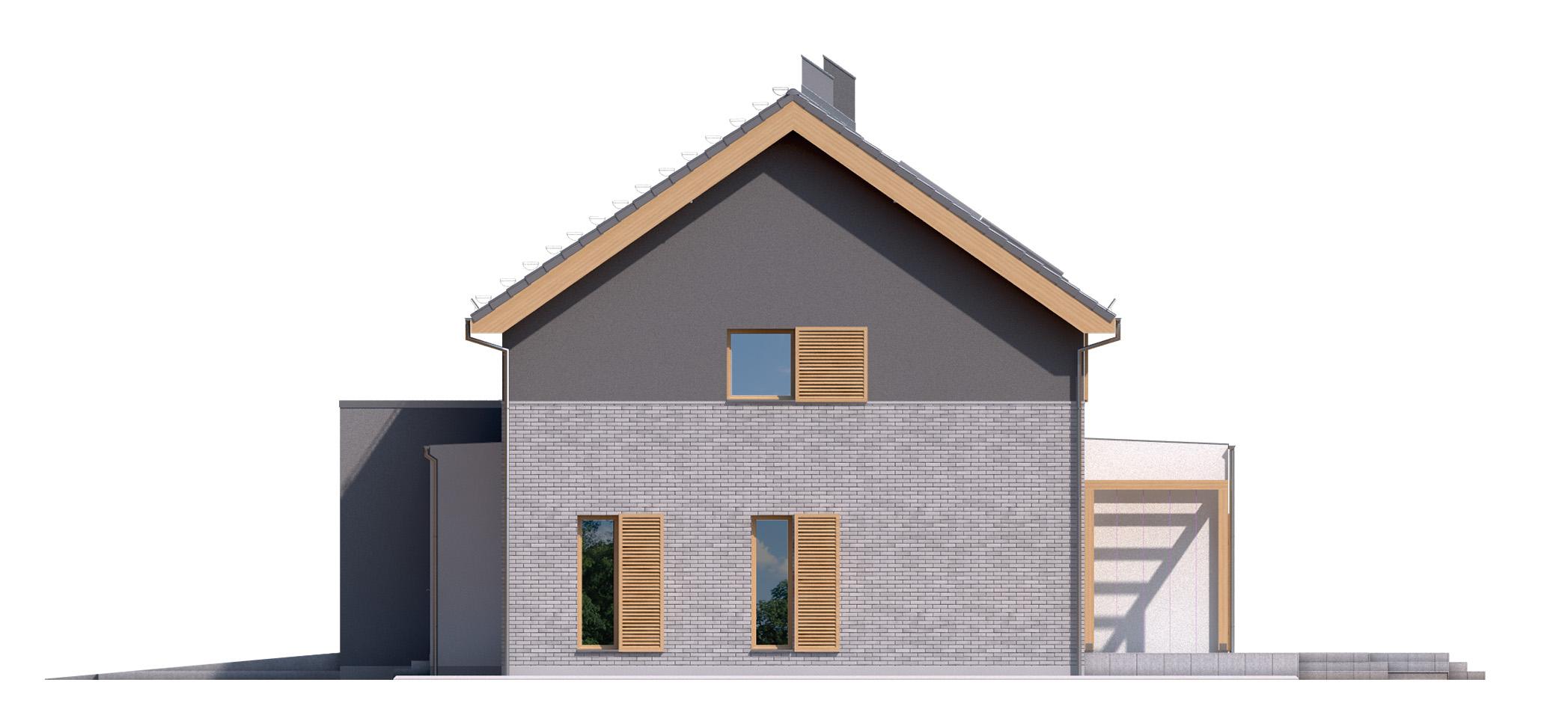 Projekt domu SIELSKI Domy Czystej Energii elewacja boczna