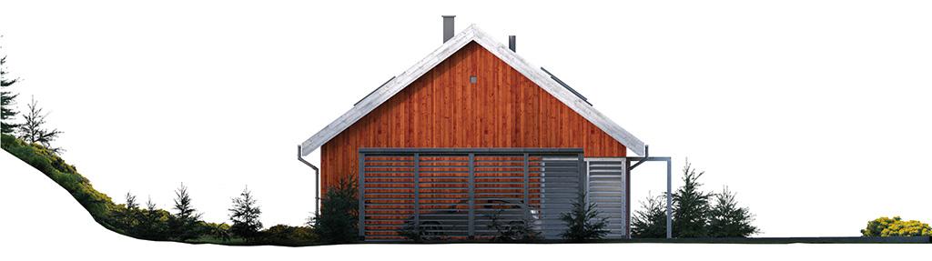 Projekt domu SKANDYNAWSKI Domy Czystej Energii elewacja boczna