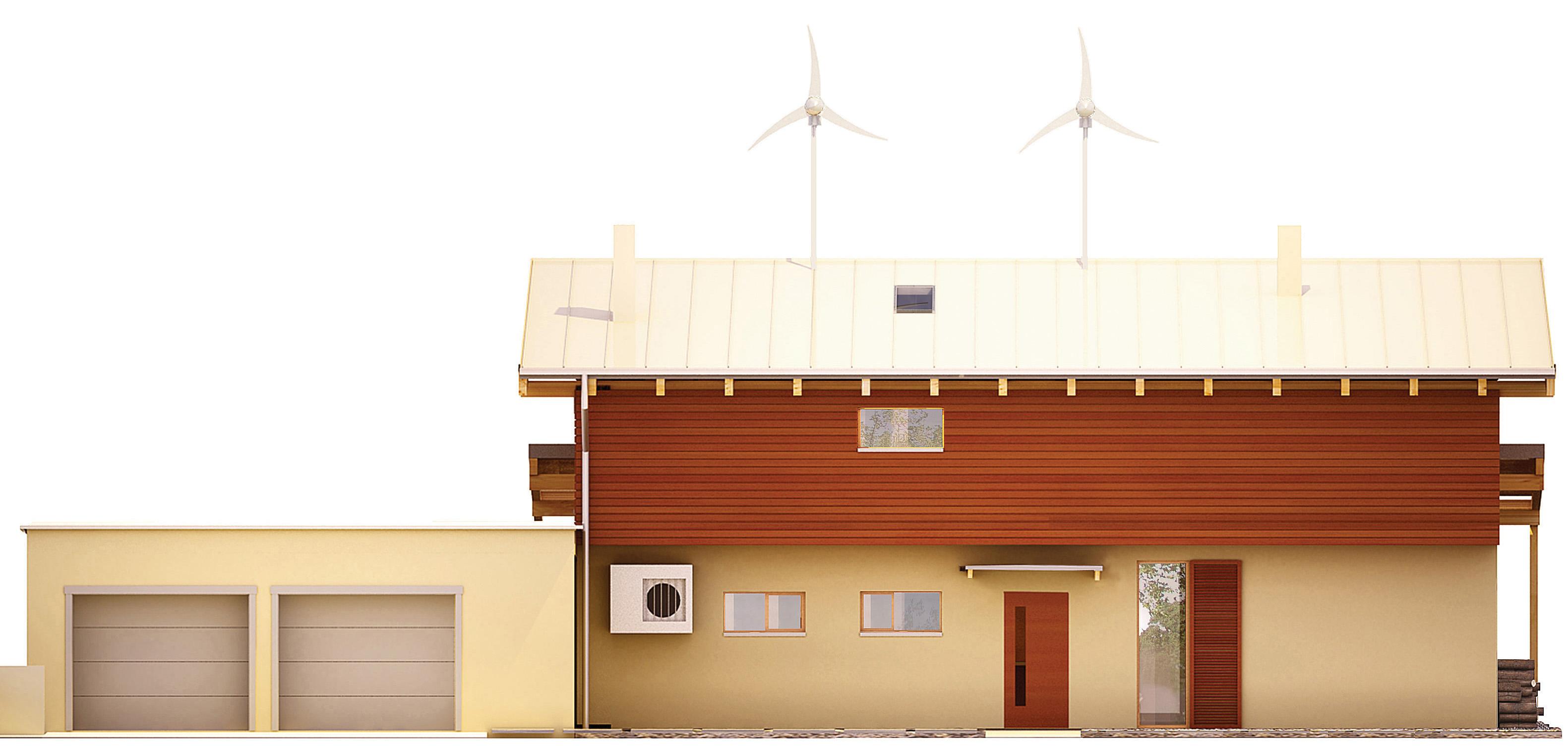 Projekt domu SOLARNY Domy Czystej Energii elewacja frontowa