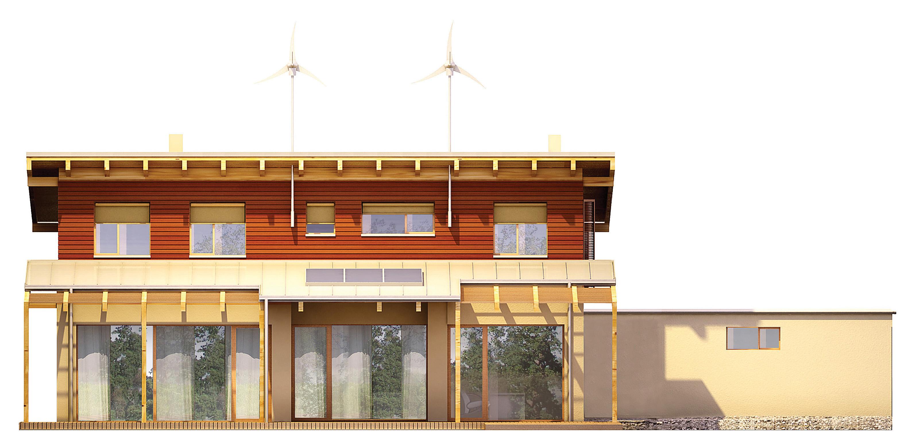 Projekt domu SOLARNY Domy Czystej Energii elewacja tylna