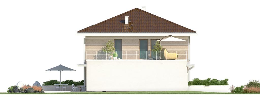 Projekt domu SOLIDNY Domy Czystej Energii elewacja boczna