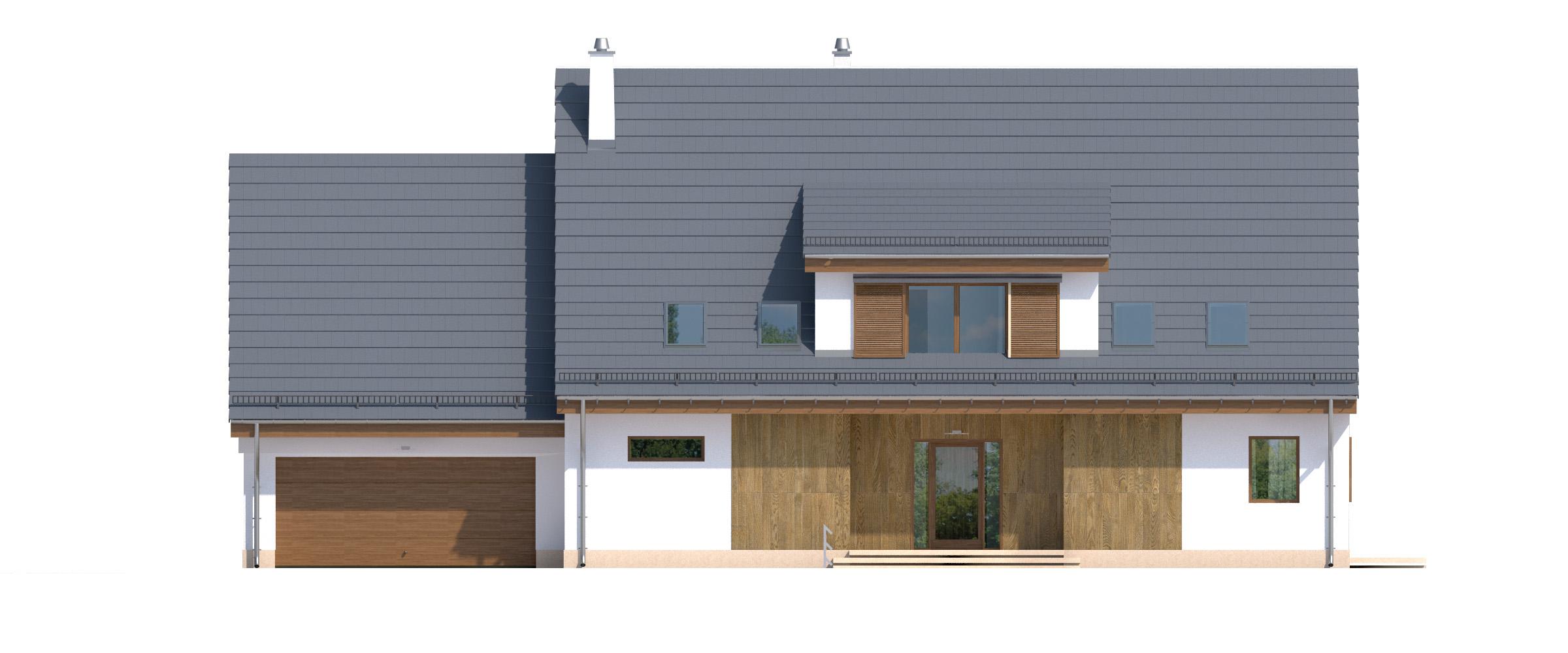 Projekt domu SUDECKI Domy Czystej Energii elewacja frontowa