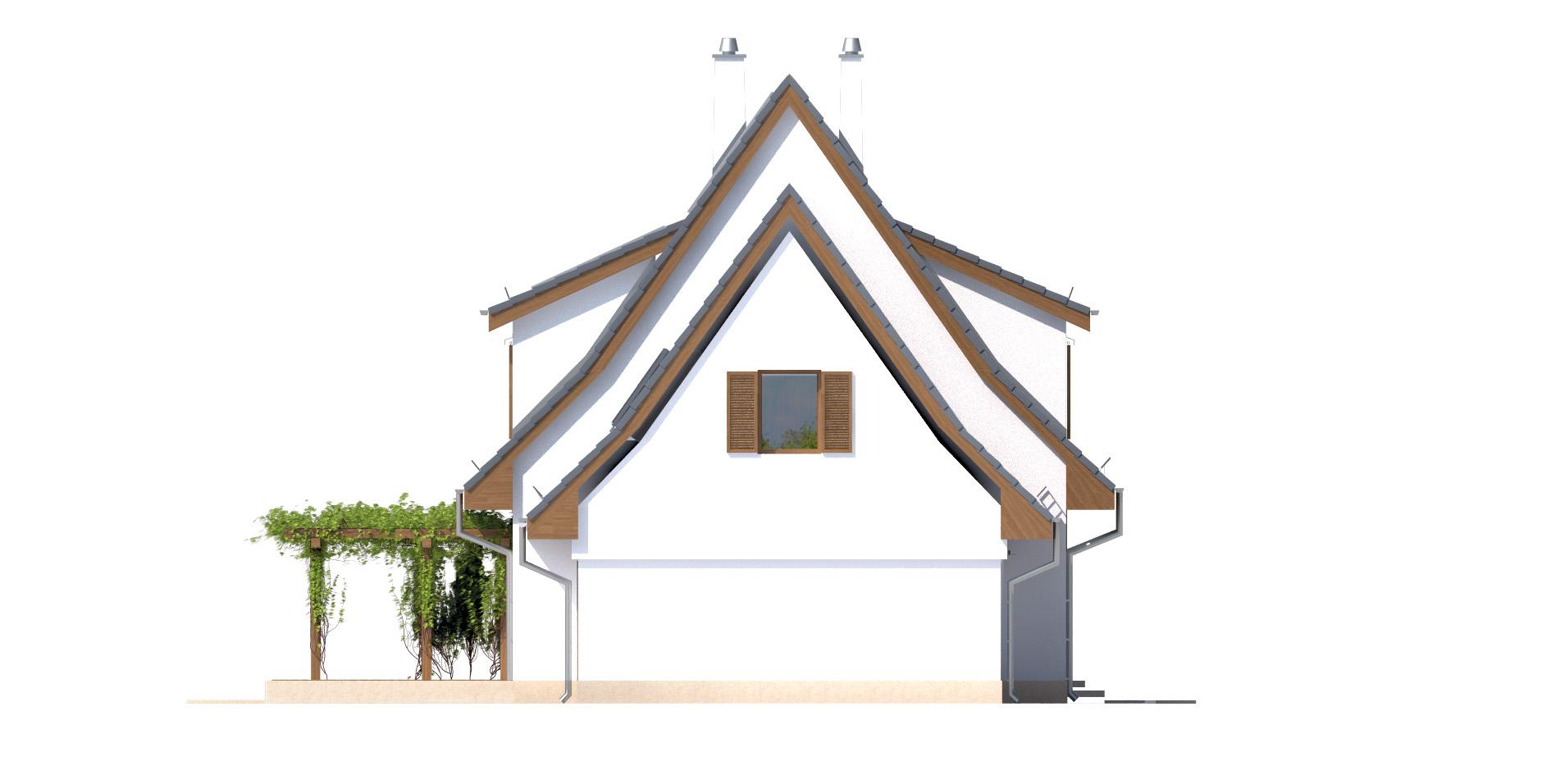 Projekt domu SUDECKI Domy Czystej Energii elewacja boczna