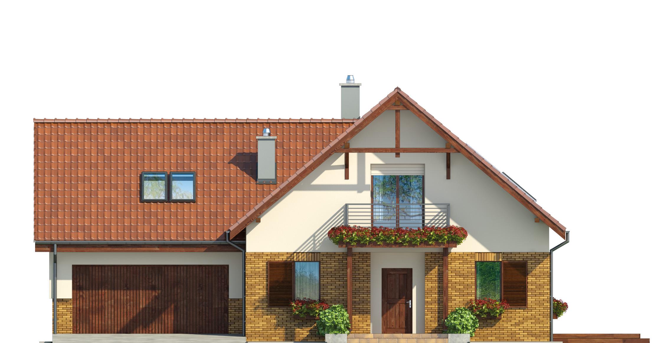 Projekt domu SWOJSKI Domy Czystej Energii elewacja frontowa