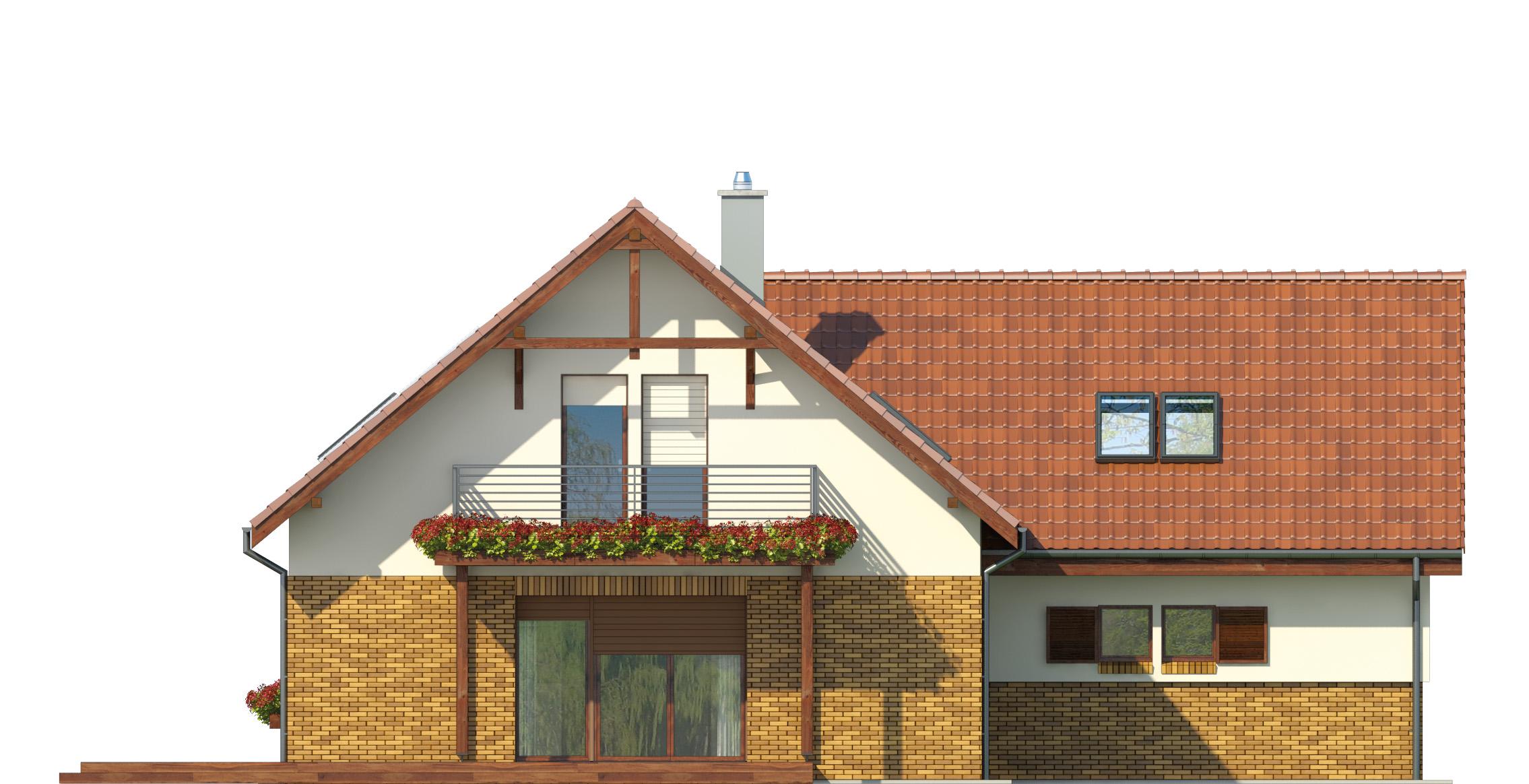 Projekt domu SWOJSKI Domy Czystej Energii elewacja tylna