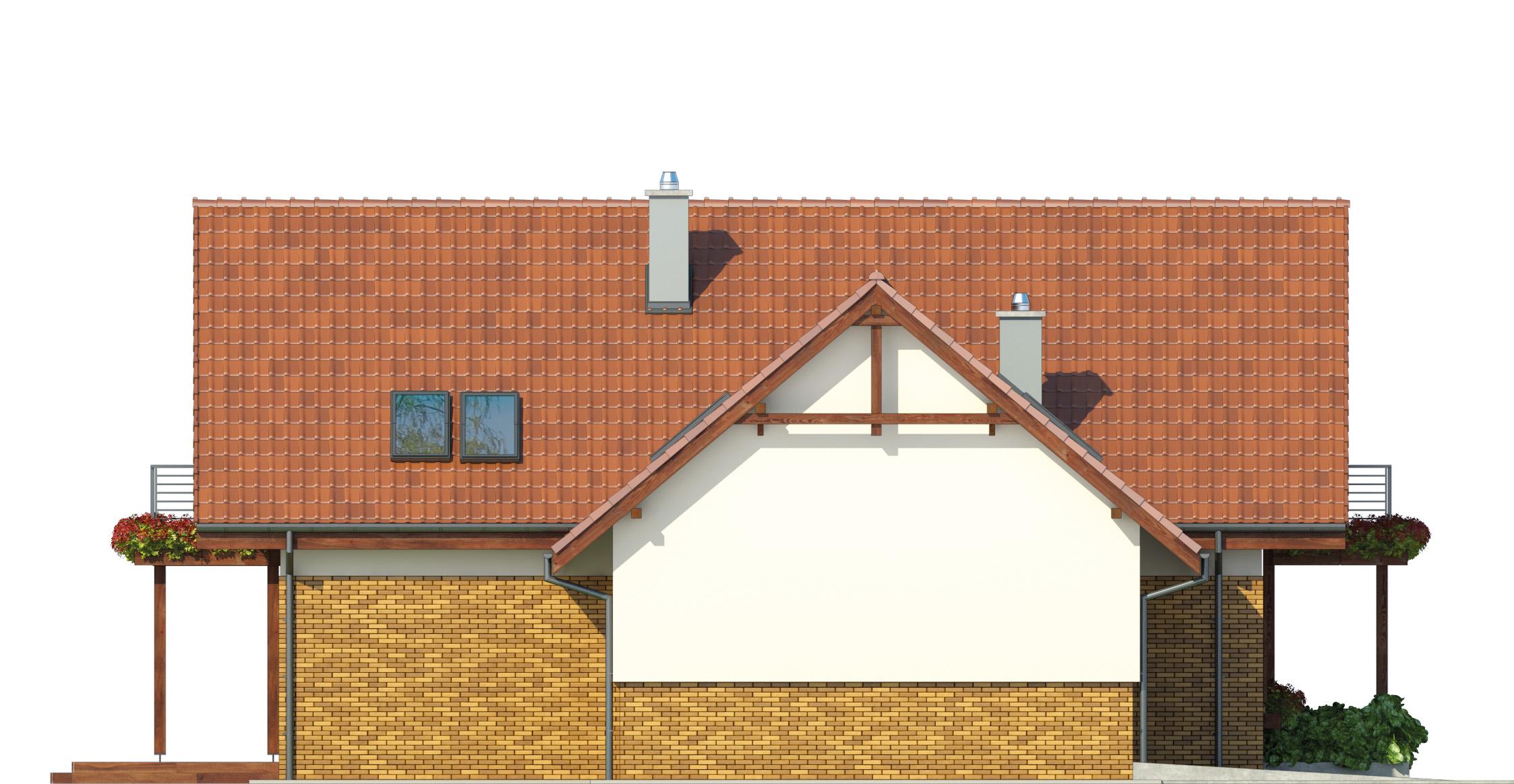 Projekt domu SWOJSKI Domy Czystej Energii elewacja boczna