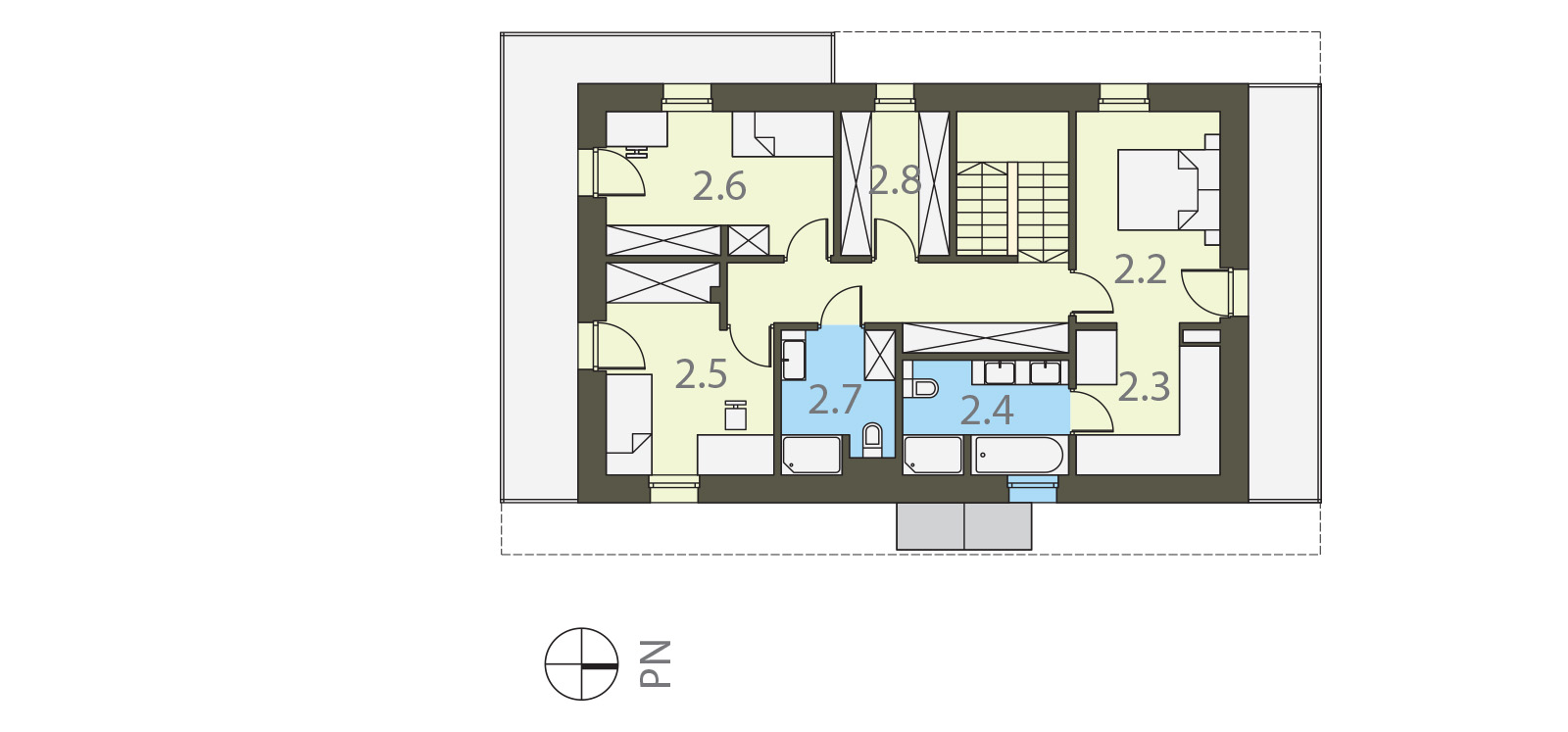 Projekt domu SZWAJCARKA Domy Czystej Energii rzut piętra