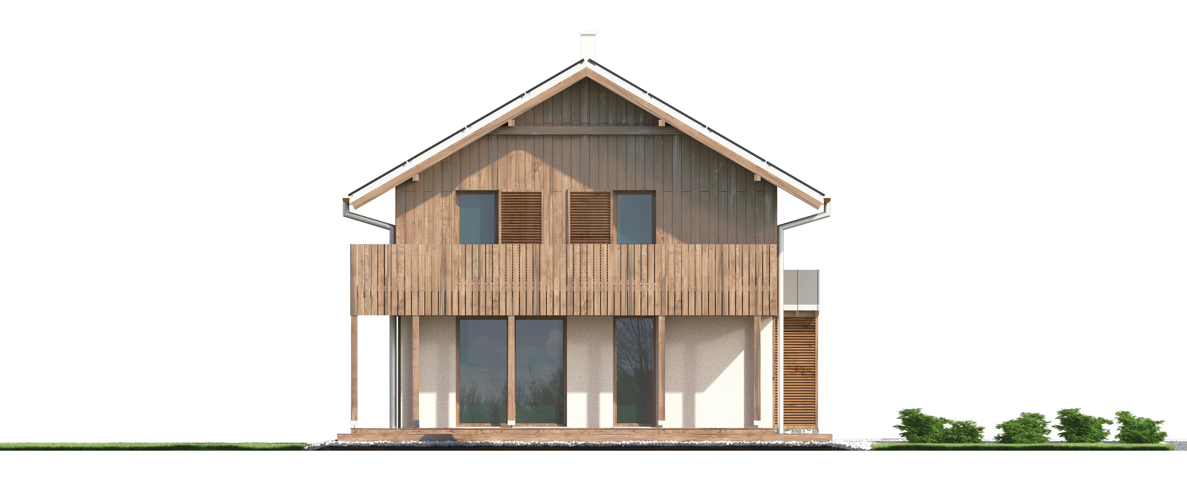 Projekt domu SZWAJCARKA Domy Czystej Energii elewacja boczna