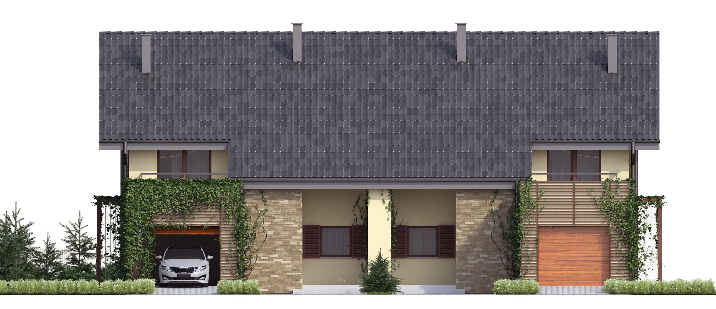 Projekt domu TWIN CLASSIC Domy Czystej Energii elewacja frontowa