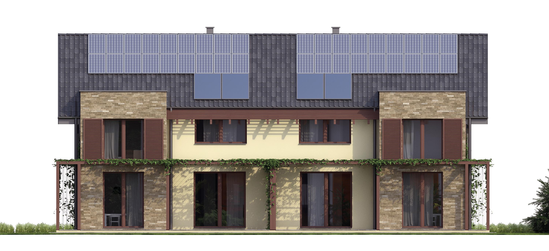 Projekt domu TWIN CLASSIC Domy Czystej Energii elewacja tylna