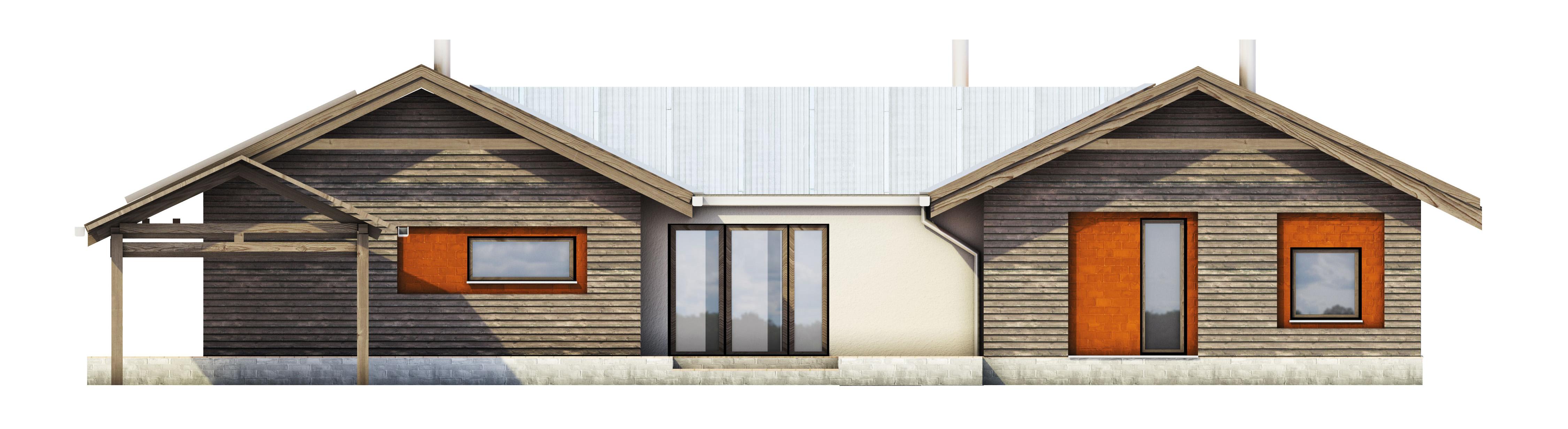 Projekt domu TARASOWY Domy Czystej Energii elewacja frontowa