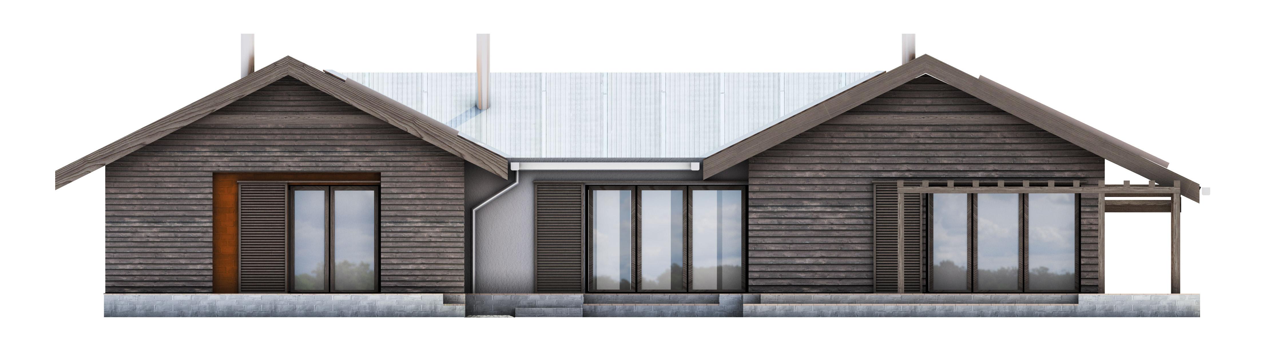 Projekt domu TARASOWY Domy Czystej Energii elewacja tylna