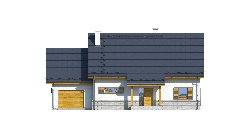 Projekt domu TRADYCYJNY Domy Czystej Energii elewacja frontowa