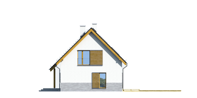 Projekt domu TRADYCYJNY Domy Czystej Energii elewacja boczna