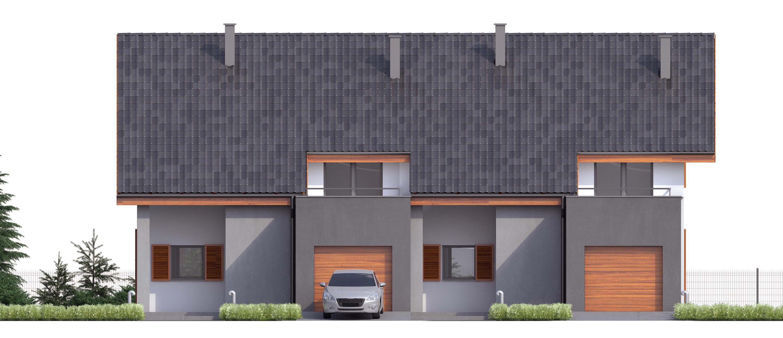 Projekt domu TWIN ECONOMIC A Domy Czystej Energii elewacja frontowa