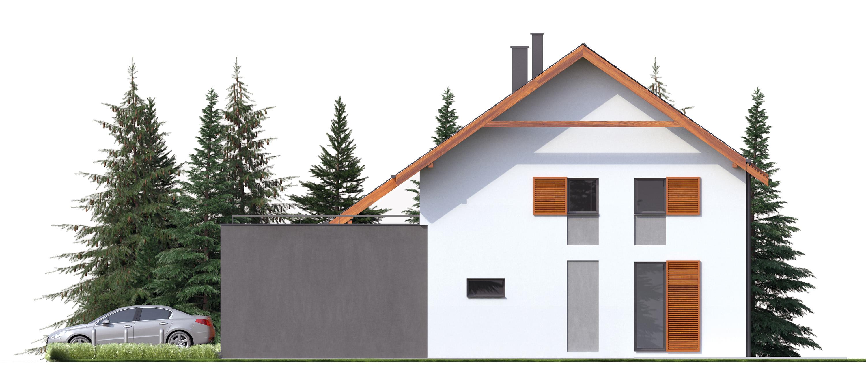 Projekt domu TWIN ECONOMIC A Domy Czystej Energii elewacja boczna