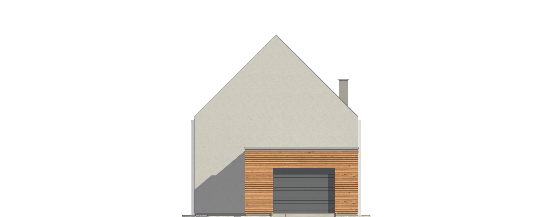 Projekt domu UKRYTY Domy Czystej Energii elewacja frontowa