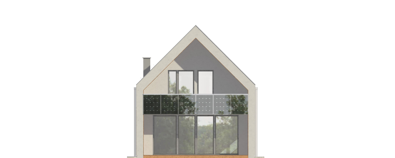 Projekt domu UKRYTY Domy Czystej Energii elewacja tylna
