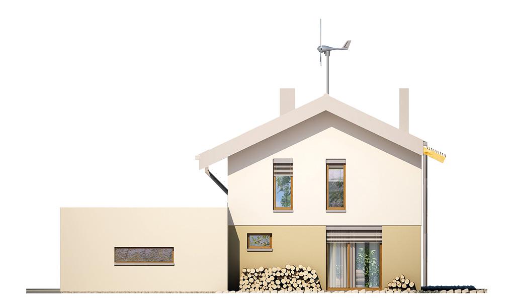 Projekt domu UNIWERSALNY Domy Czystej Energii elewacja boczna
