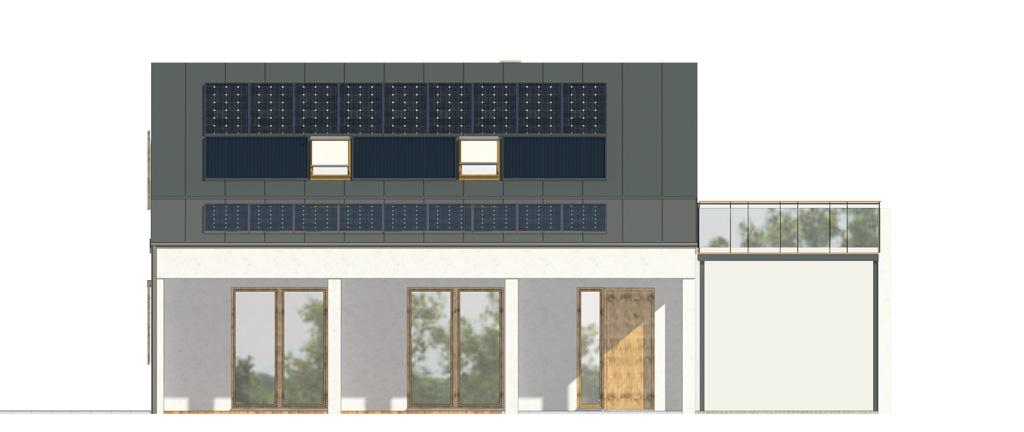 Projekt domu UROCZY Domy Czystej Energii elewacja frontowa