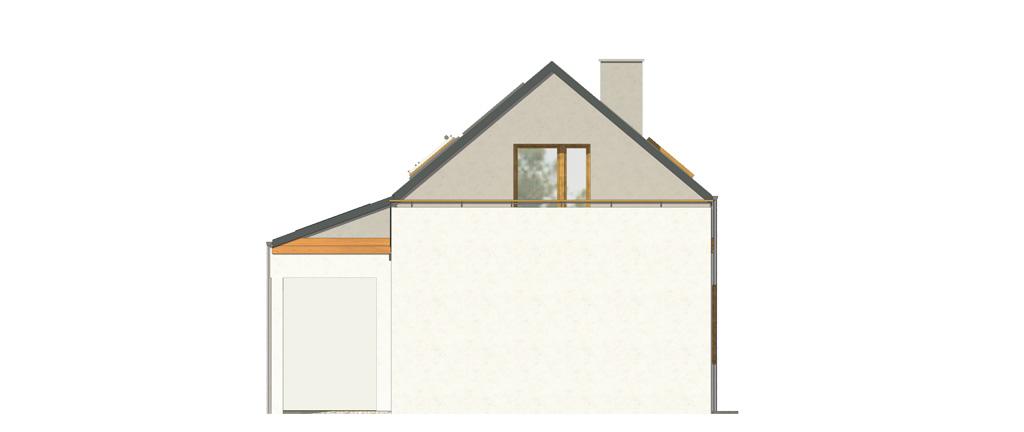 Projekt domu UROCZY Domy Czystej Energii elewacja boczna