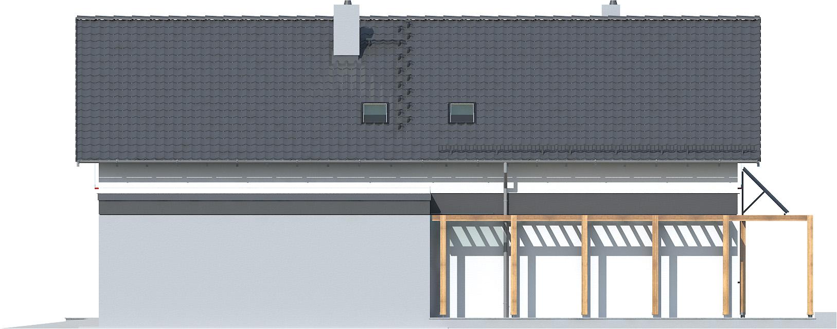 Projekt domu WĄSKI Domy Czystej Energii elewacja boczna