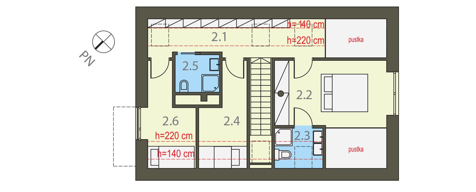 Projekt domu WIDOKOWY Domy Czystej Energii rzut piętra