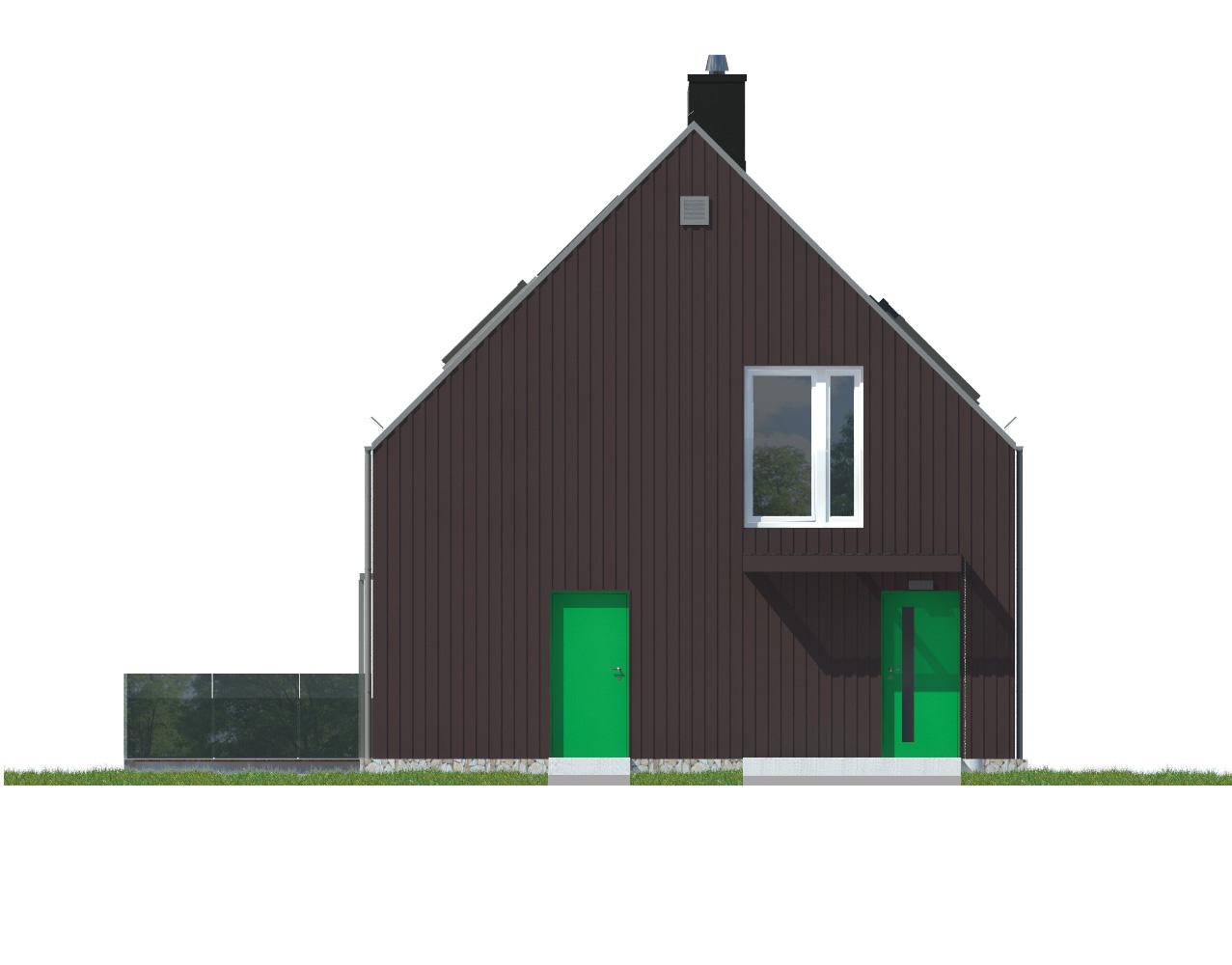 Projekt domu WIDOKOWY Domy Czystej Energii elewacja frontowa