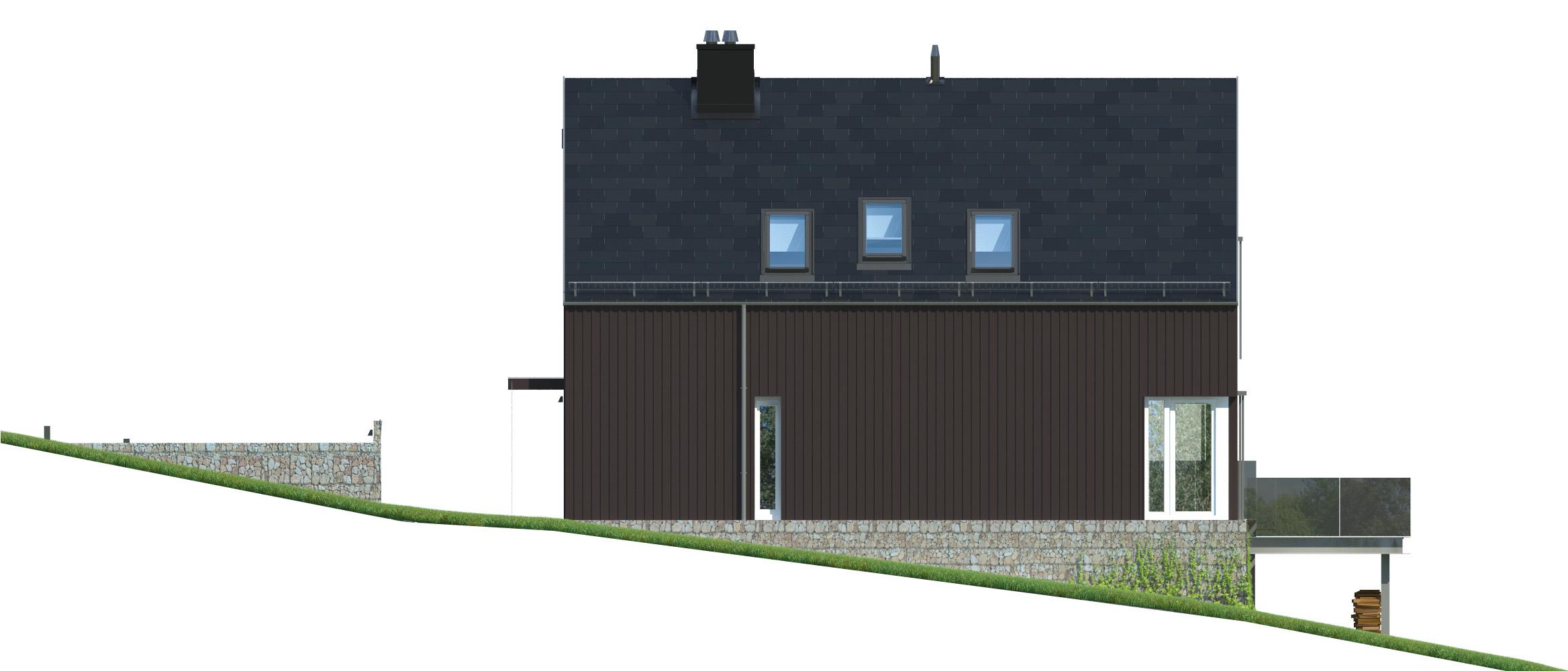 Projekt domu WIDOKOWY Domy Czystej Energii elewacja boczna
