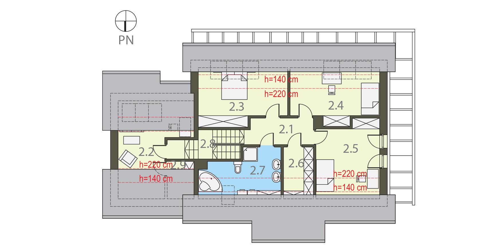 Projekt domu WIOSENNY Domy Czystej Energii rzut piętra
