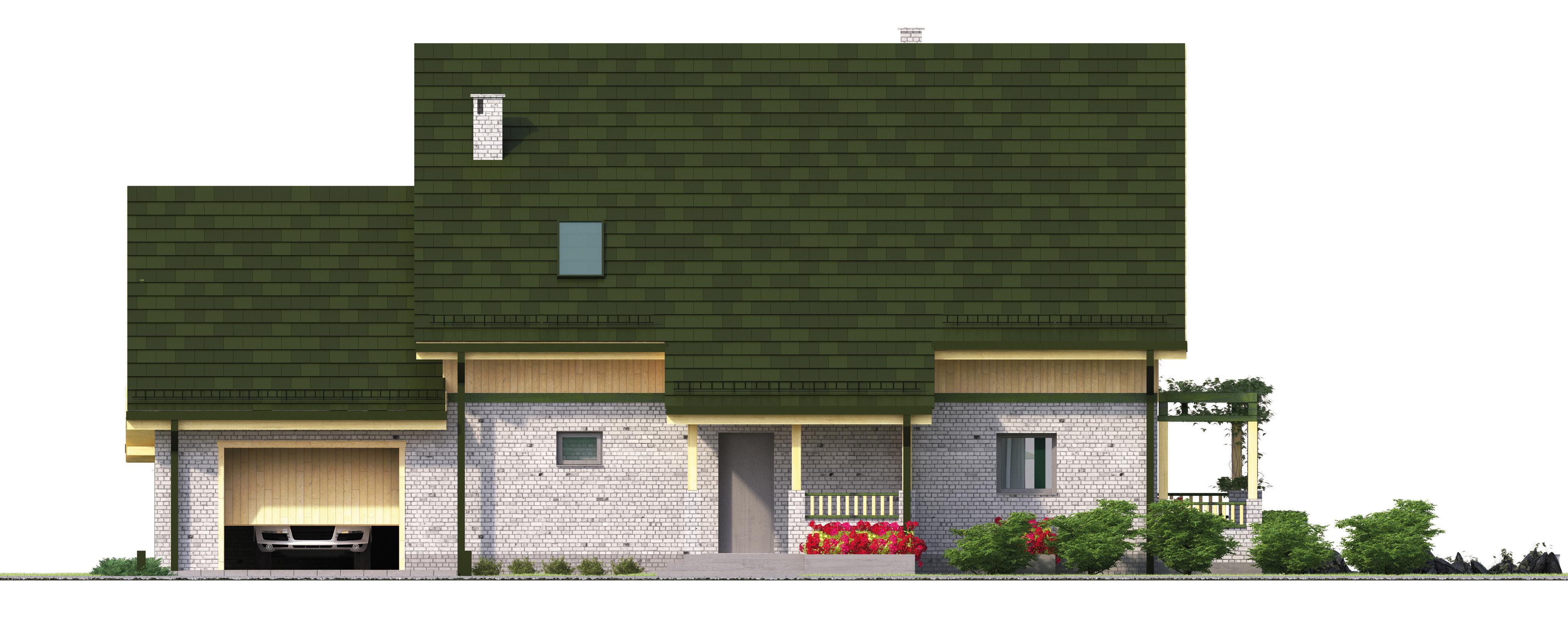 Projekt domu WIOSENNY Domy Czystej Energii elewacja frontowa