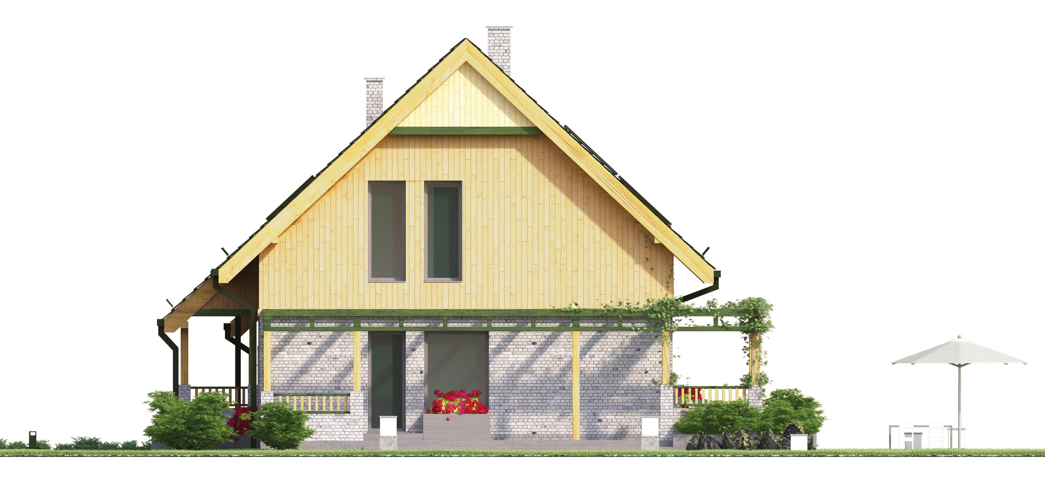 Projekt domu WIOSENNY Domy Czystej Energii elewacja boczna