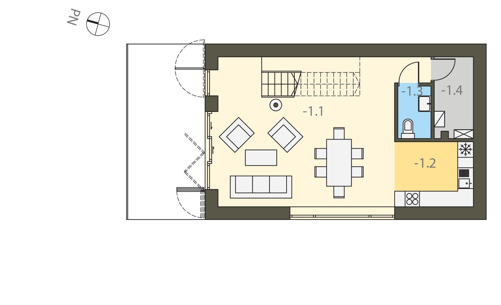 Projekt domu W KRAJOBRAZIE Domy Czystej Energii rzut piętra