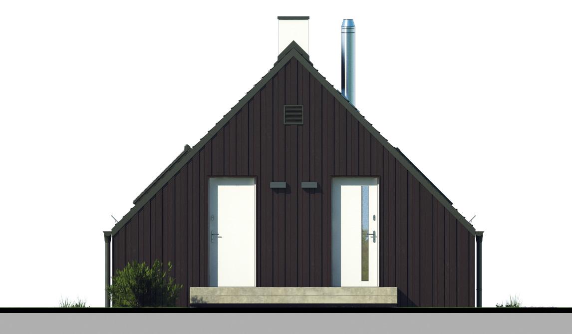 Projekt domu W KRAJOBRAZIE Domy Czystej Energii elewacja frontowa