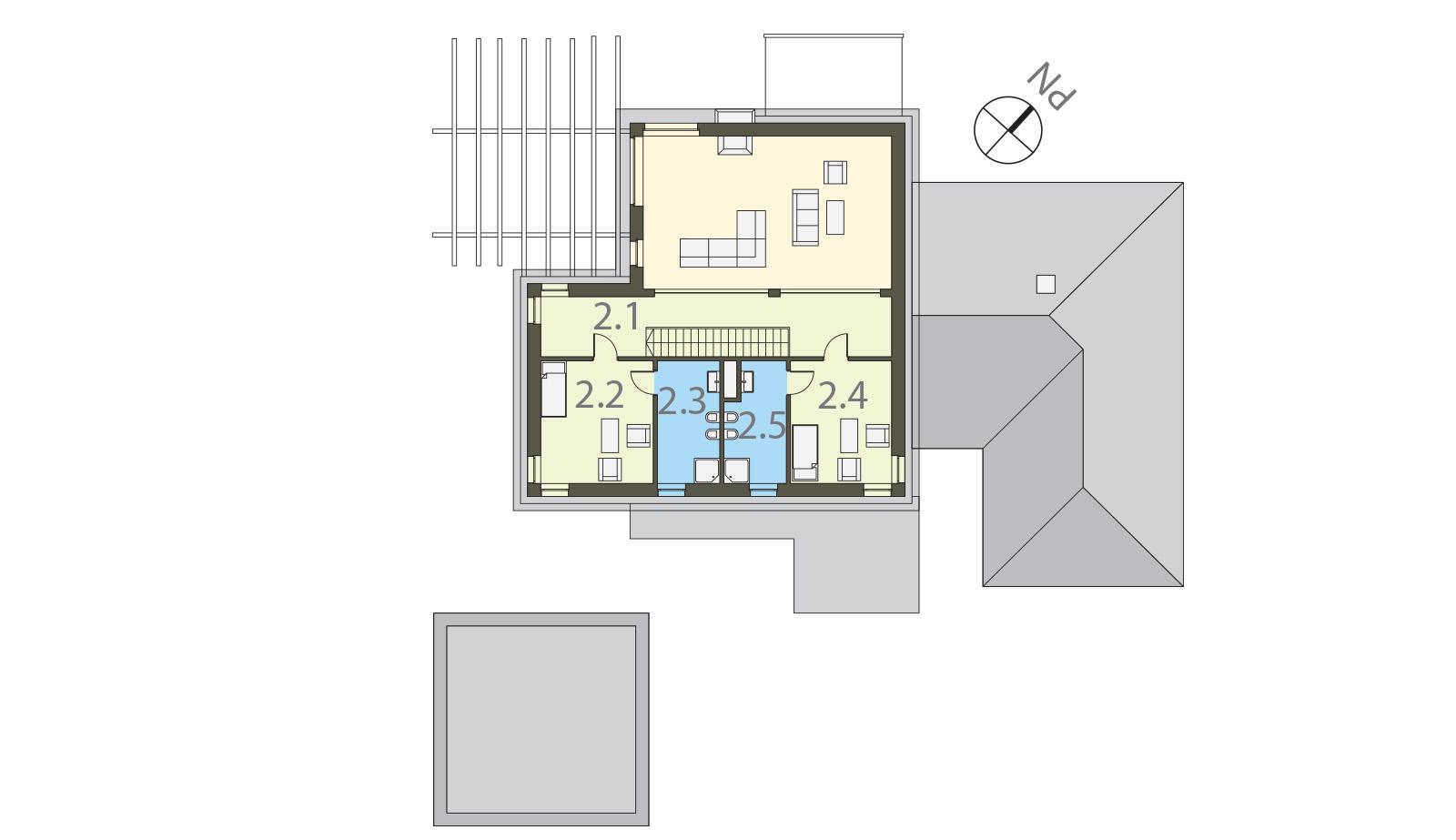 Projekt domu ZDROJOWY Domy Czystej Energii rzut piętra