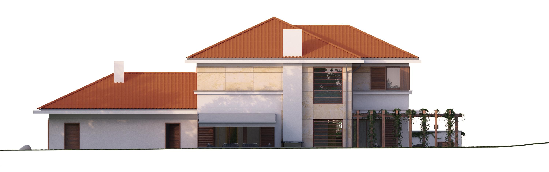 Projekt domu ZDROJOWY Domy Czystej Energii elewacja tylna