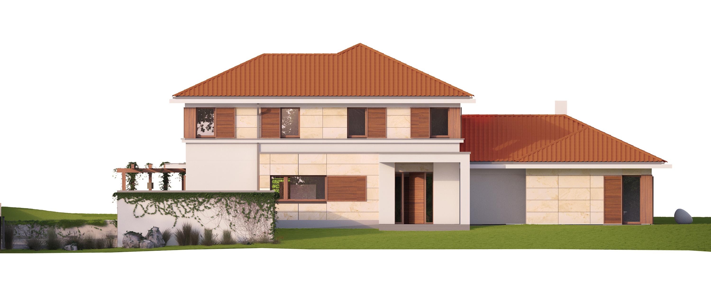 Projekt domu ZDROJOWY Domy Czystej Energii elewacja frontowa
