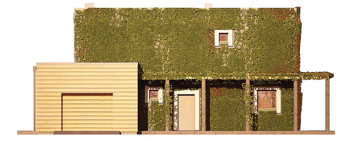 Projekt domu ZIELONY Domy Czystej Energii elewacja frontowa