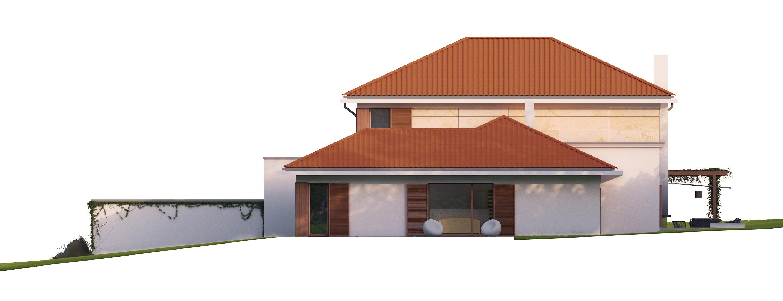 Projekt domu ZDROJOWY Domy Czystej Energii elewacja boczna