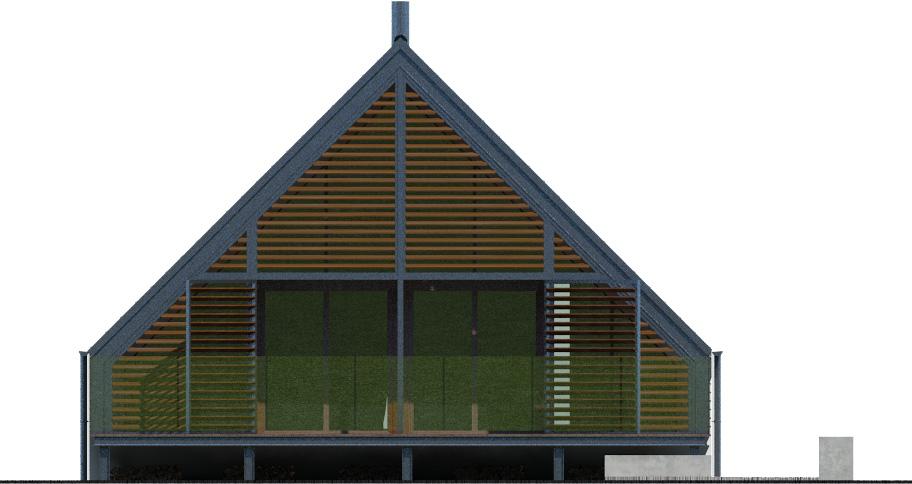 Projekt domu Z TARASEM Domy Czystej Energii elewacja tylna