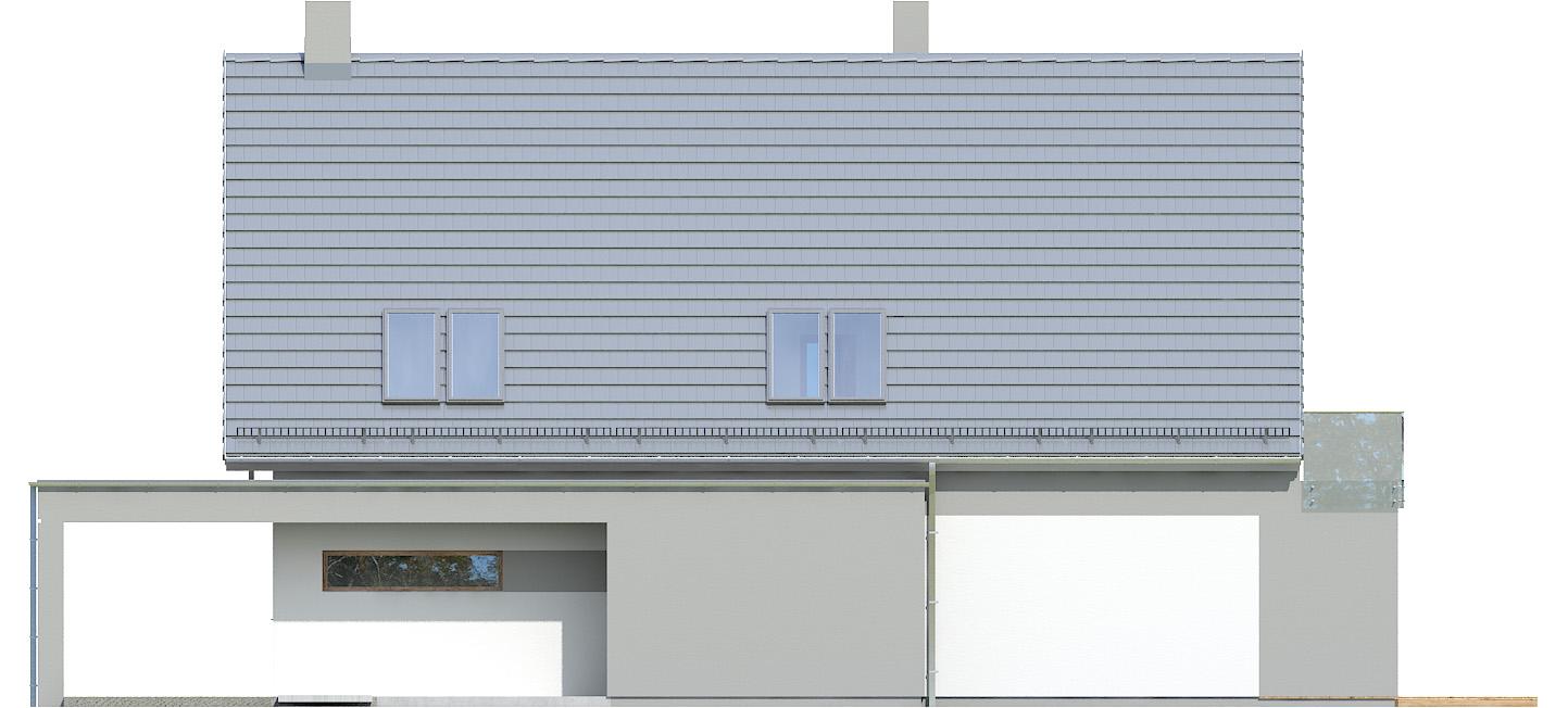Projekt domu Z WIDOKIEM Domy Czystej Energii elewacja boczna