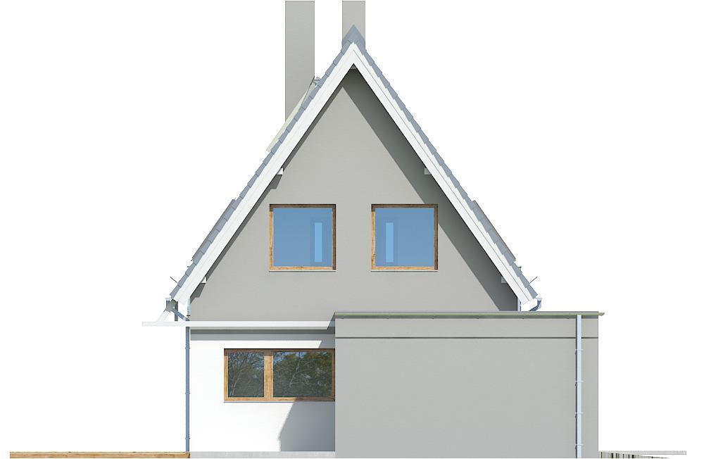 Projekt domu Z WIDOKIEM Domy Czystej Energii elewacja frontowa