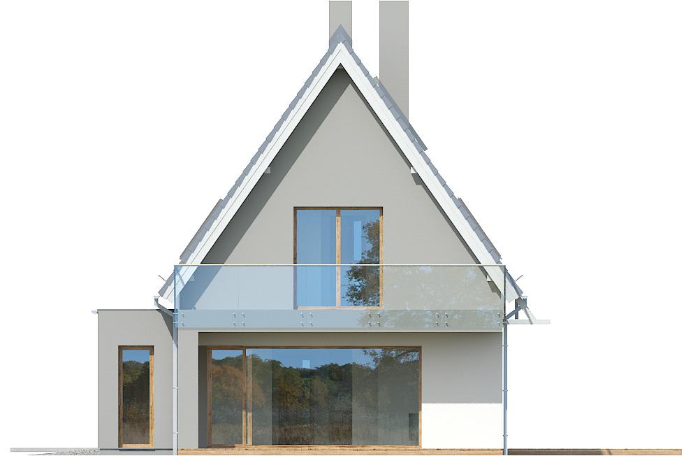 Projekt domu Z WIDOKIEM Domy Czystej Energii elewacja tylna