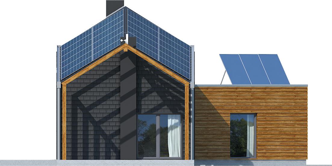 Projekt domu ZYGZAK Domy Czystej Energii elewacja boczna