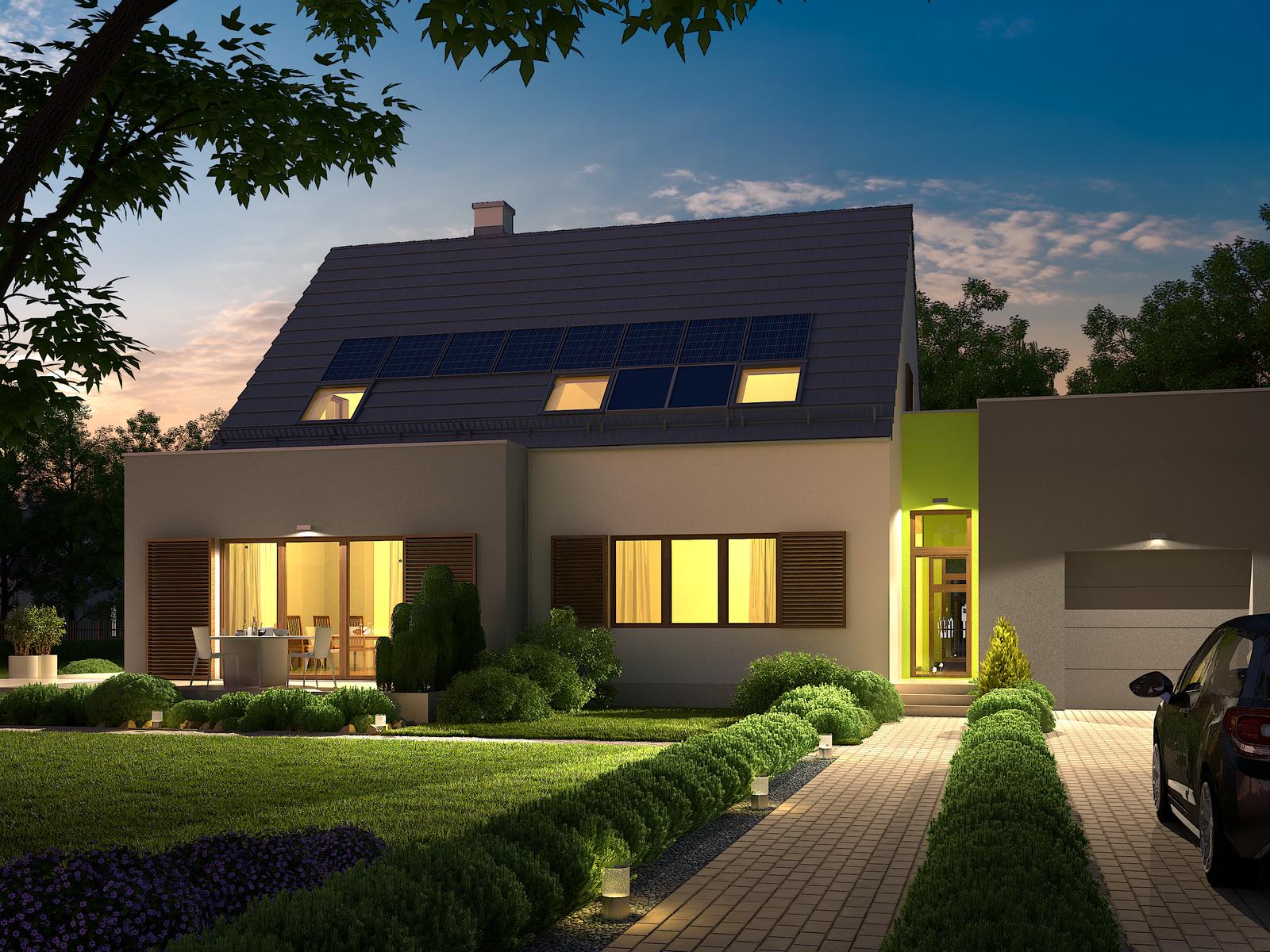 Projekt domu FRONTOWY Domy Czystej Energii widok od frontu