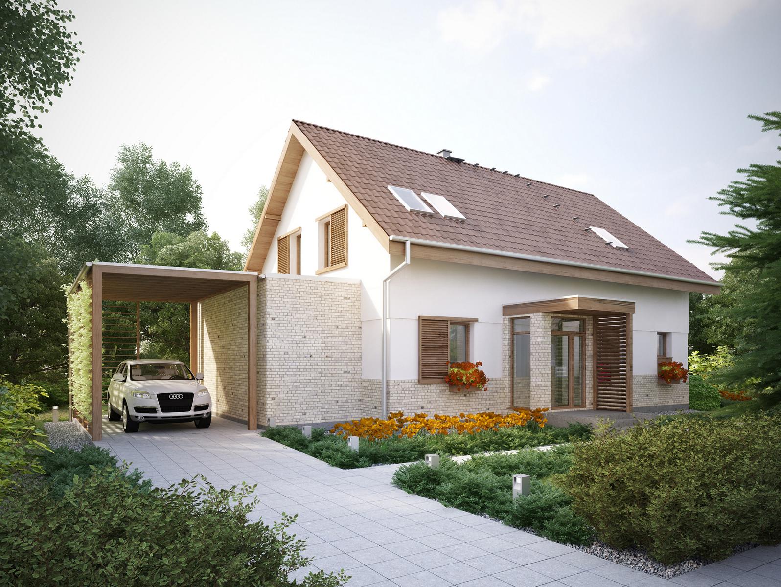 Projekt domu PRZESTRONNY Domy Czystej Energii widok od frontu